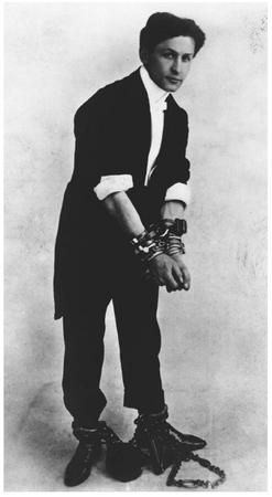 Harry Houdini (1874–1926) had himself wrapped in chains as part of his escape act. (THE LIBRARY OF CONGRESS)