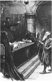 The Spanish Inquisition was ordered to rid Europe of heretics. By 1257, the Church officially sanctioned torture as a means of forcing witches, sorcerers, and shapeshifters to confess their alliance with Satan. (FORTEAN PICTURE LIBRARY)