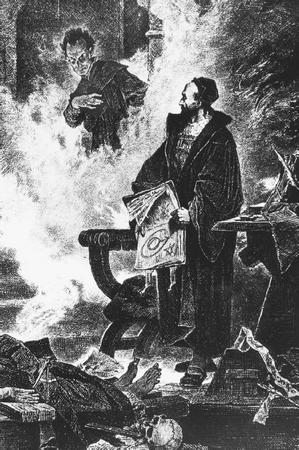 Mephistopheles appearing before Faust in the 1865 edition of Faust by Johann Wolfgang Goethe. (FORTEAN PICTURE LIBRARY)