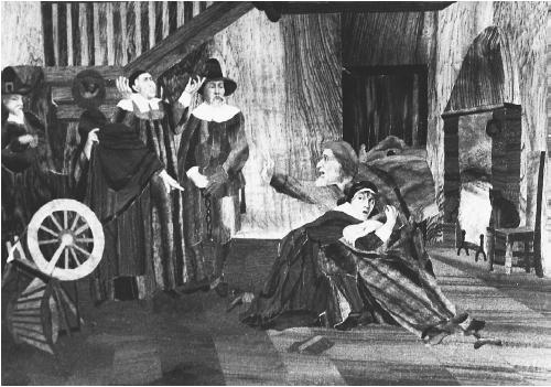 Salem village witchcraft trials in the 1690s. (THE LIBRARY OF CONGRESS)