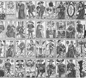 French tarot cards. (CORBIS CORPORATION)