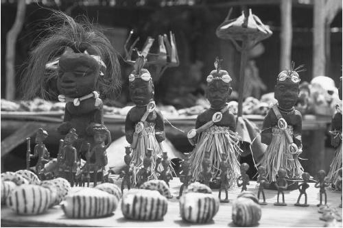 Assortment of voodoo dolls and fetishes on display at an outdoor fetish market in Lome,Togo. (CAROLINE PENN/CORBIS CORPORATION)