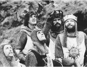 "Cast members of ""Monty Python and the Holy Grail."" (THE KOBAL COLLECTION)"
