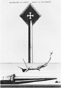 The spear of Longinus with Templar cross. (FORTEAN PICTURE<br /> LIBRARY)