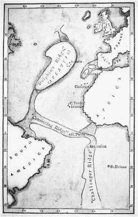 Nineteenth-century map of Atlantis. (FORTEAN PICTURE LIBRARY)