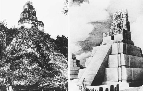 Mayan temple in Tikel, Guatemala. (THE LIBRARY OF CONGRESS)