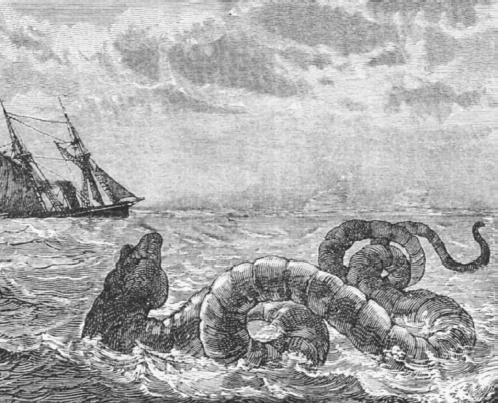 Sea serpent. (MARY EVANS PICTURE LIBRARY)