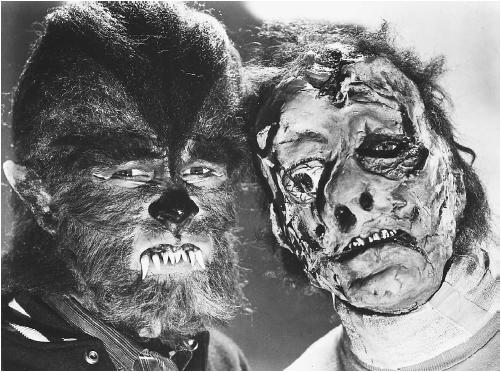 "Two characters from the film ""How to Make a Monster."" (DEL VALLE GALLERY)"
