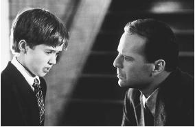 "Bruce Willis and Haley Joel Osment in the film ""The Sixth Sense"". (AP/WIDE WORLD PHOTOS)"